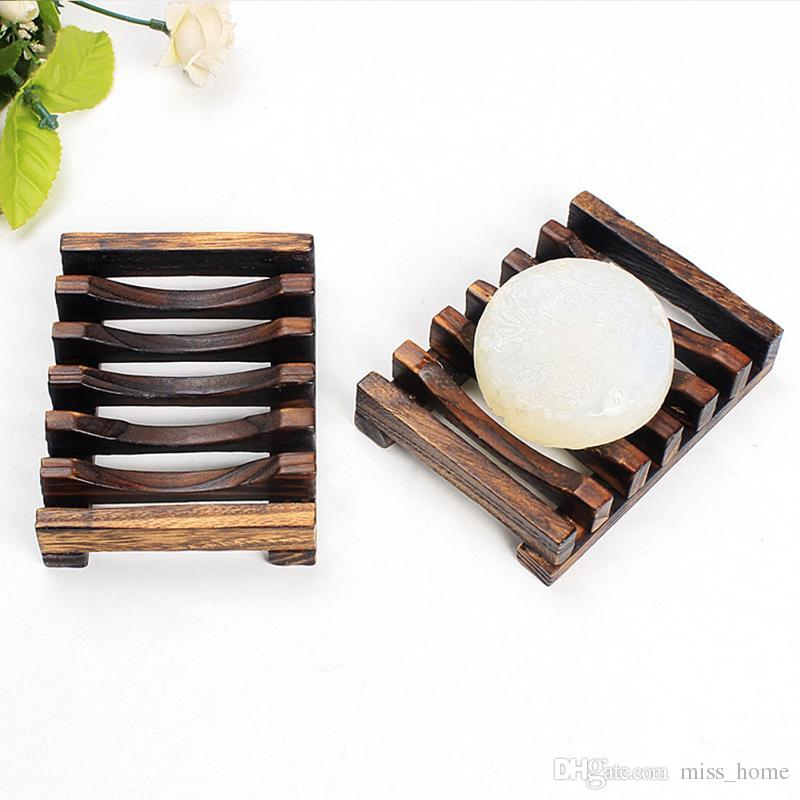accesorio de ba/ño hecho a mano Jabonera de madera con estilo Haw/ái