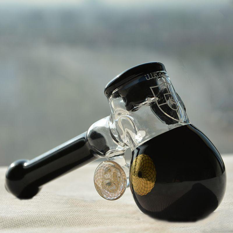Tubi in vetro spesso Sherlock Mini martello Heavy Wall Glass design maniglia cucchiaio bruciatore a gas per fumare erba secca