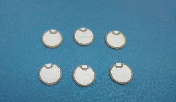 Actionneur à cymbale en céramique piézo-céramique à disques piézo-électriques en céramique piézoélectrique à disque 8 * 4MHz-PZT5