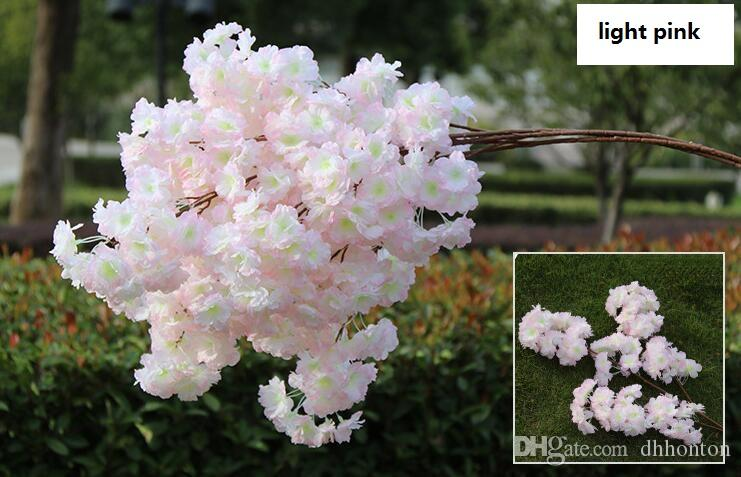 Artificial cherry blossom multi-color optional wedding decoration sakura 39 Inch 100 cm long free shipping WQ20