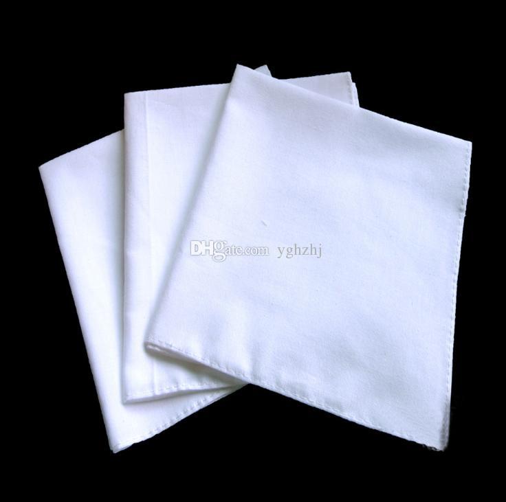 Оптовая 50 * 50 с высокой плотностью белый квадрат, хлопок белый носовой платок, галстук-краситель вышивка картина DIY квадрат, носовой платок, бесплатная доставка