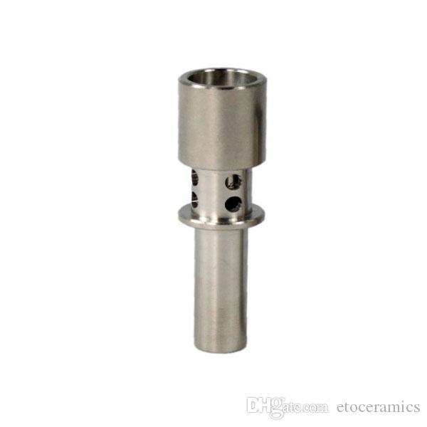 티타늄 플럭스 네일 10mm 14mm 18mm 유리 봉 담배 파이프 전자 담배 구멍