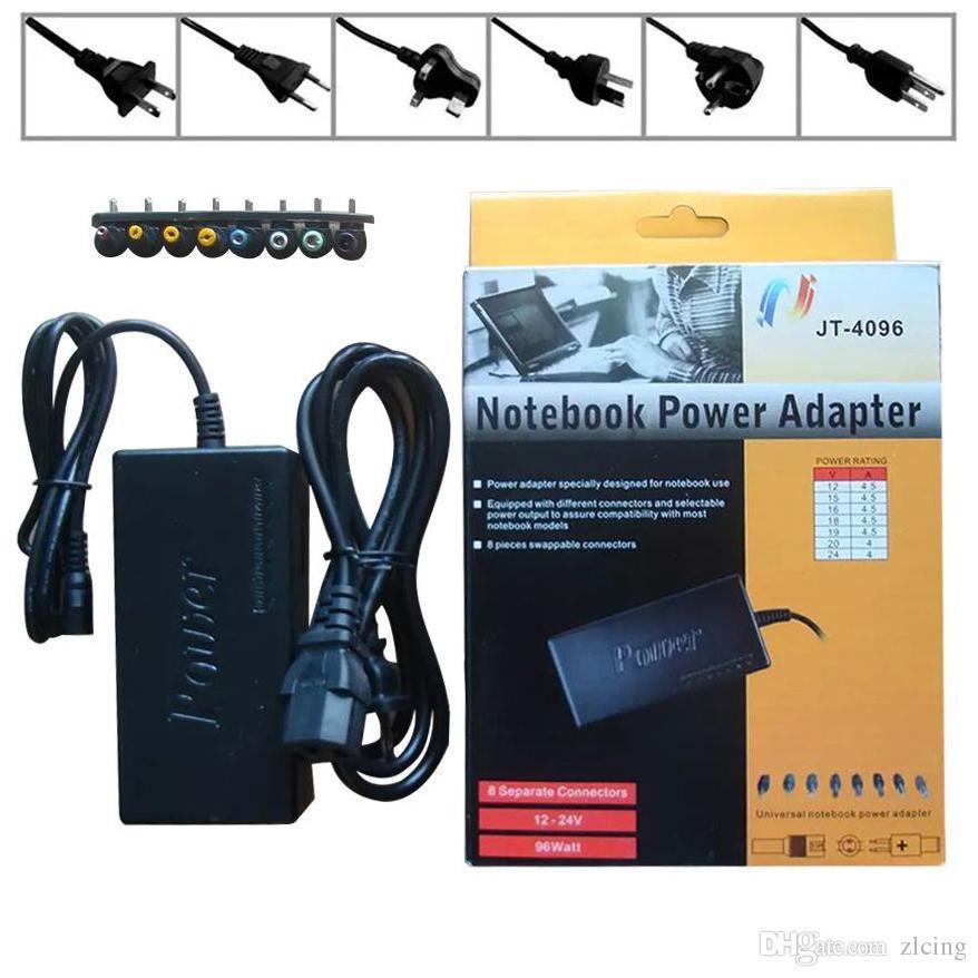 무료 배송 핫 유니버셜 96W 노트북 노트북 8V 커넥터와 15V - 24V AC 충전기 전원 어댑터