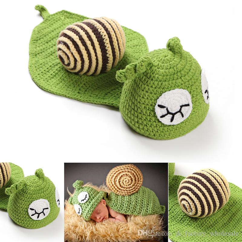 Baby Photography Props Cute Snail Set Newborn Boy and Girl Crochet Outfit Infant Coming Home Photo Props kids clothes Accessories