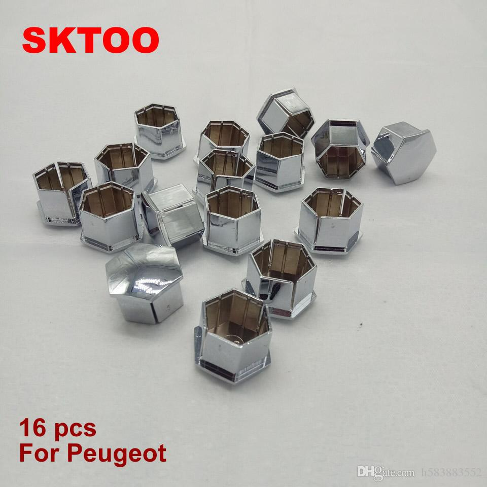 JANTES Nut Cover Tire bouchon à vis DÉCORATION Peugeot 207 301 307 308 408 508 3008 pour Citroen C5 C4L C2 16Pieces (Livraison gratuite)