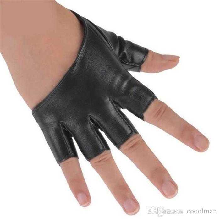 أزياء نصف اصبع قفازات بو الجلود بيغيني أصابع القيادة ليلة نادي القطب الرقص مشاهدة قفازات مصنع بالجملة
