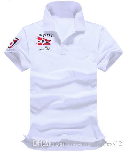 Comprar valor Polo Classic 2017 hombres de la manga PRL VII Polo Nueva camiseta del algodón de la manera del cortocircuito Camisas Camisa Masculina cómodo polos de los hombres