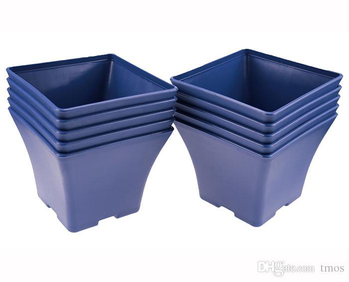 En gros 50 PCS MOQ Bleu Charme Espagne Bassin Carré Pot De Fleurs Bonsaï Pépinière Planteur Lithops Cultiver Pots pour La Maison Jardin Table Dercoration
