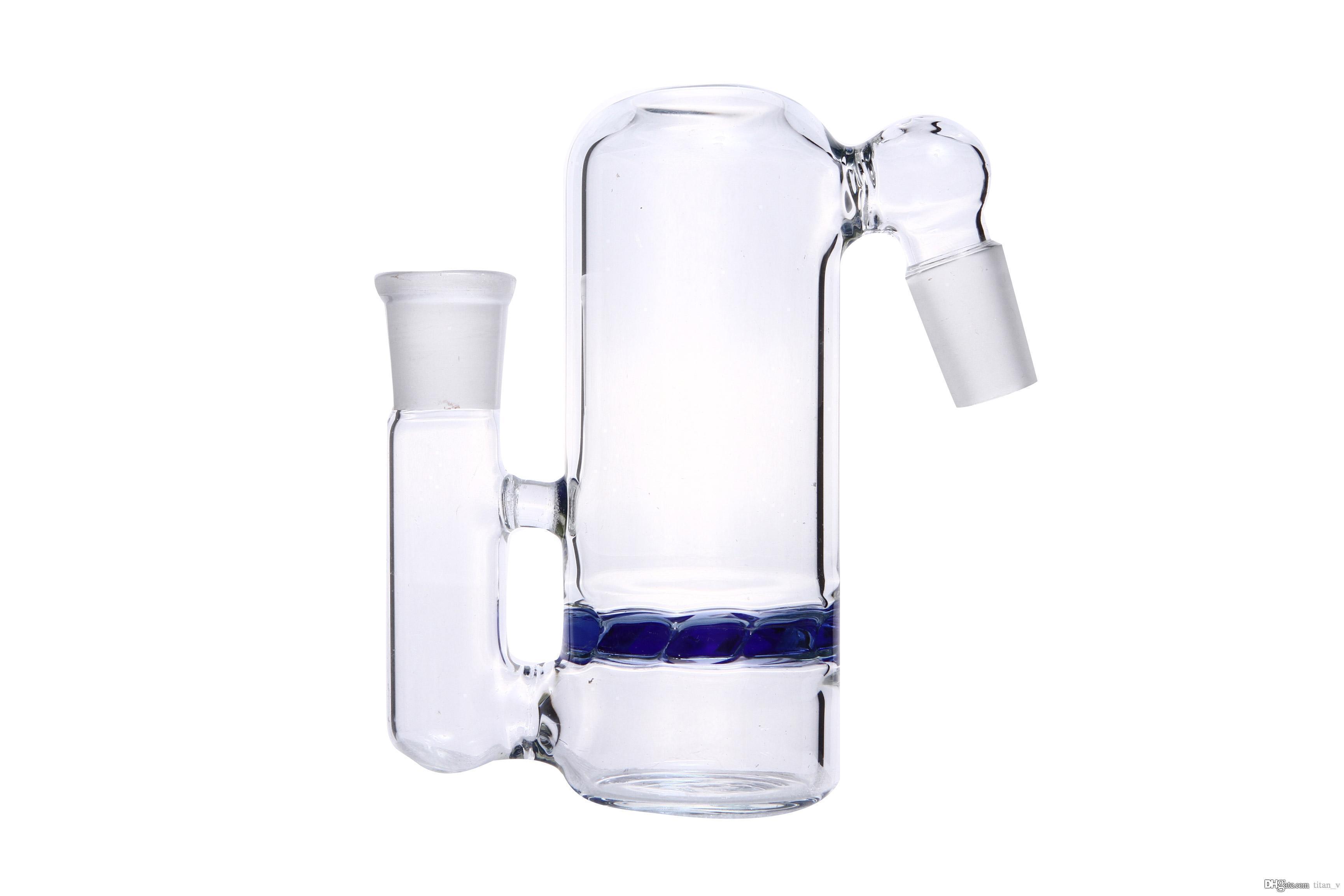 Capteur de cendres Percolateur Percolator à percussion à percussion à angle droit de couleur bleue-bleue et à angle droit de 45 °