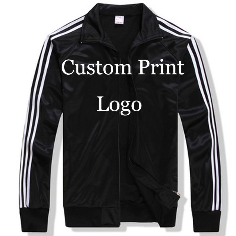Atacado-Custom Made Sportswear Casacos Personalizado jaqueta solta DIY Logos tela Bordado impressão Personalizado Impressão Treino Impresso HY