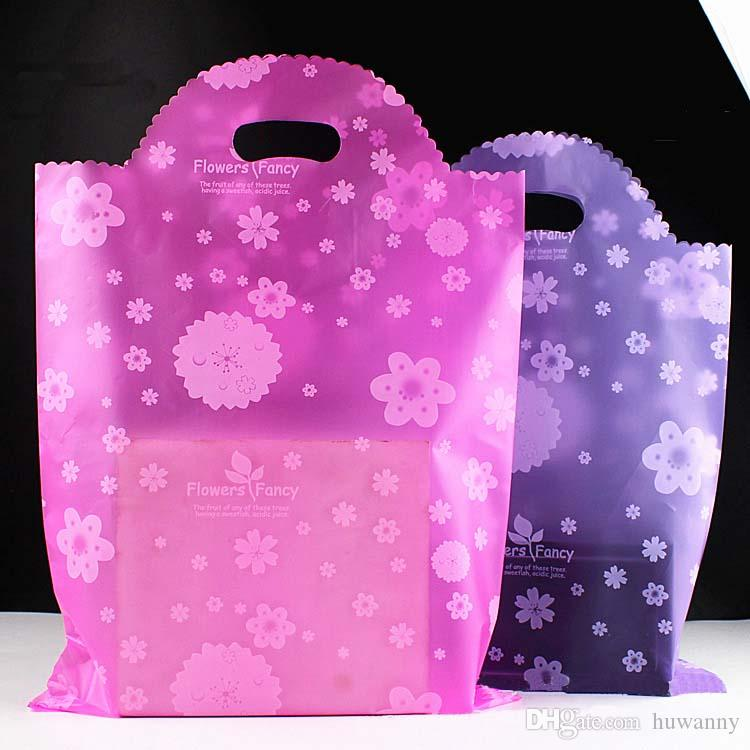 35*50 Plastic Gift Bags Thicher PVC Colorful Clothing Shopping Pouches Bags Packaging Wholesale Free Ship - 0036PACK