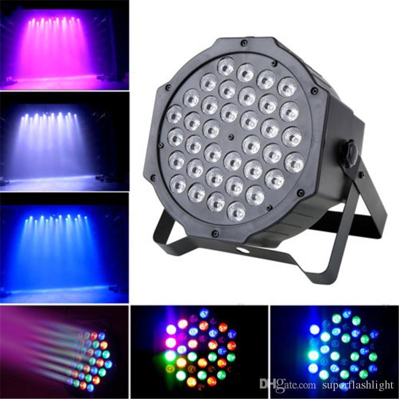 Crystal Magic Ball Par 36 RGB LED Stage Light Effect Disco DJ Bar Effect UP Lighting Show DMX Strobe for Party KTV LEG_90C