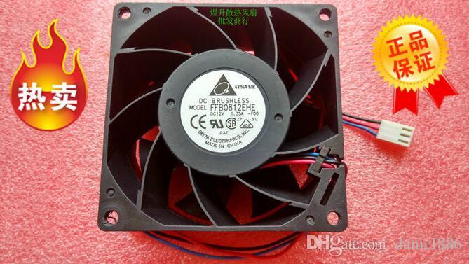 дельта 8038 FFB0812EHE DC12V 1.35A 80 * 80 * 38мм 3 линия насилие вентилятора воздушного охлаждения