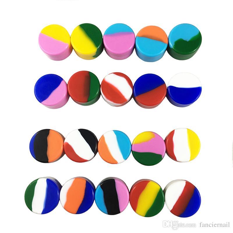 Miglior Jar silicone contenitori 5ML non solidi Colori 20 Colori 5 ML Silicon Jar Cera non solida 5ML silicone Container DHL / UPS