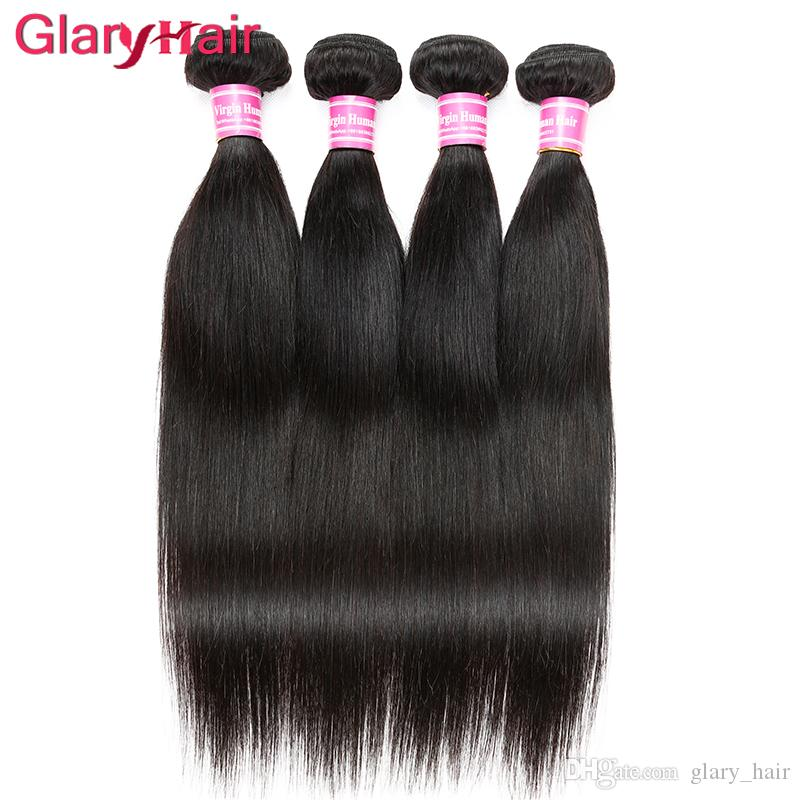 Malaysian Virgin Hair Bundles 4 pcs Mink Brazilian Hair Bundles Indian Peruvian Straight Weave Virgin Human Braiding Hair Wefts Cambodian