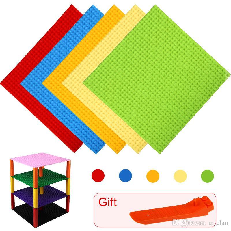 작은 벽돌 Baseplates의베이스 플레이트 24 * 24 빌딩 블록 DIY베이스 플레이트 어린이 교육 플라스틱 ABS 완구 액세서리