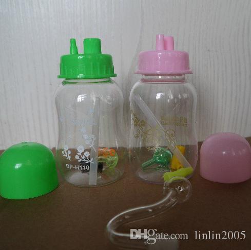 Vendita calda Accessori per fumatori Narghilè acrilico di alta qualità a forma di bottiglia media