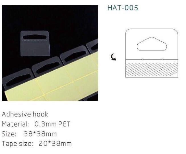 100pcs Supermercato merchandising gancio gancio aereo velivoli gancio autoadesivo in plastica PET appiccicoso gancio