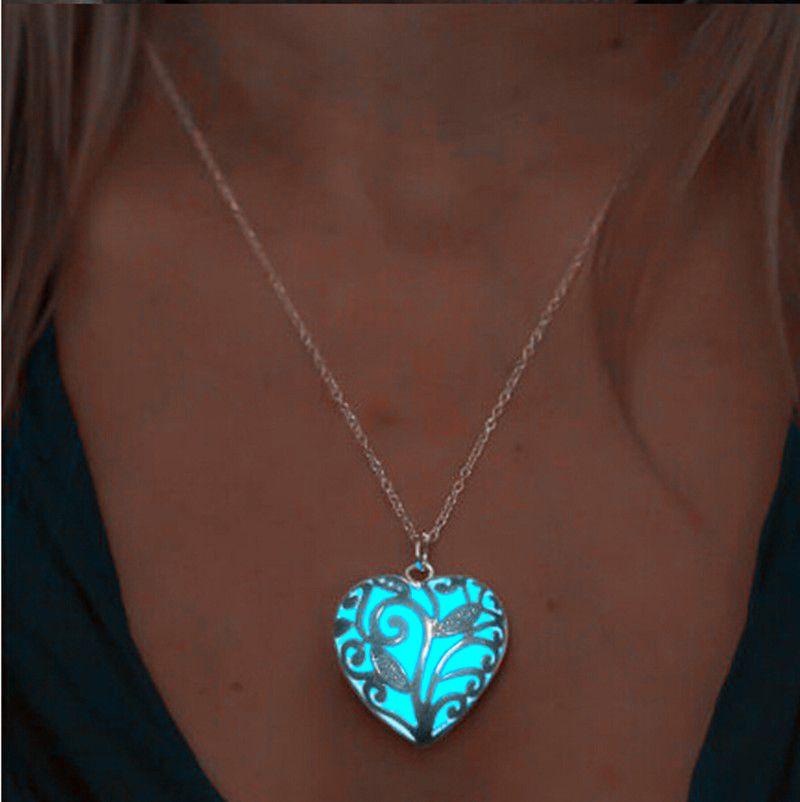 Fashion Women Magical Fairy Glow in the Dark Locket Luminous Pendant Necklace
