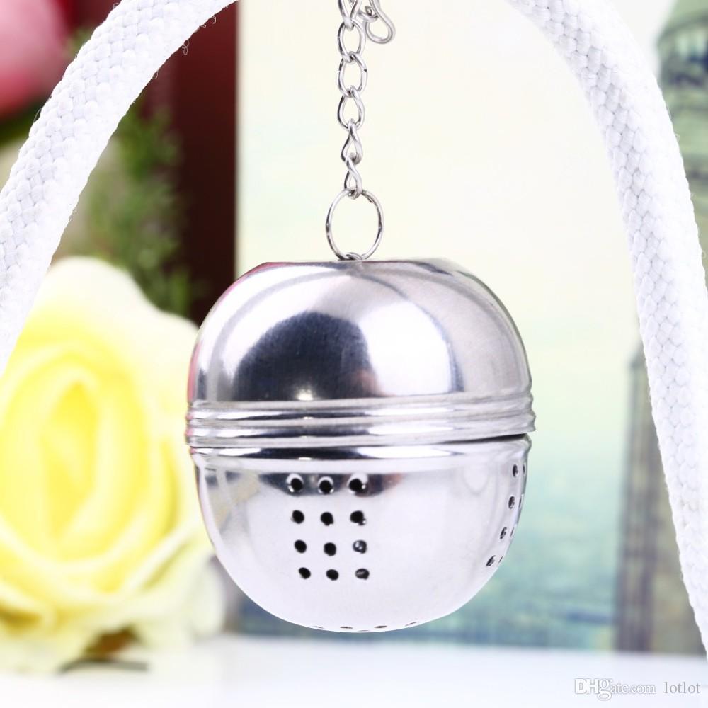 Bolas de chá de 4 cm de aço inoxidável filtro de chá coador de bola de chá Oval