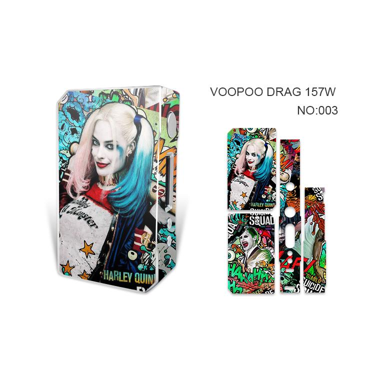 VOOPOO DRAG 157W Skin Wraps Sticker Cases Cover for DRAG 157 W TC Box Mod Vape Film Stickers With Fashion 14 Pattern DHL