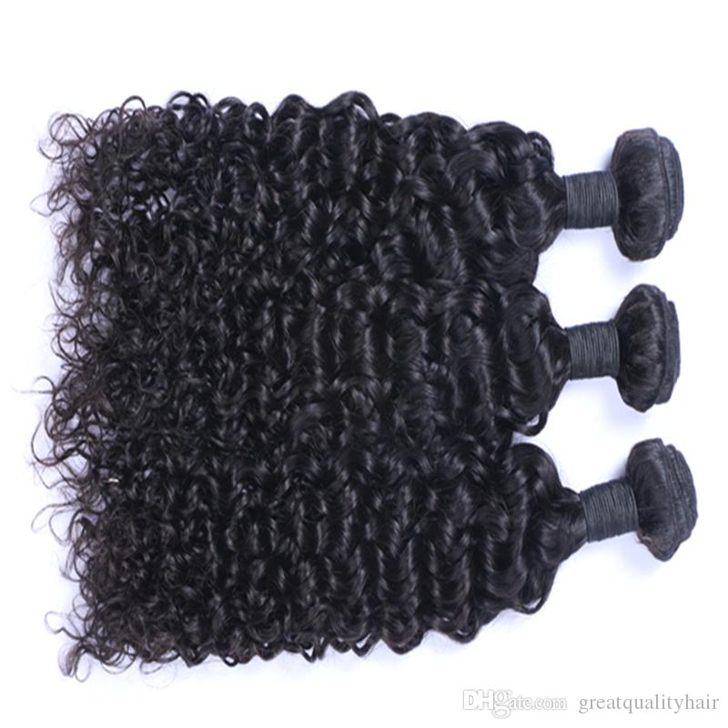 Best Quality Brazilian Hair Unprocessed Malaysian Brazilian Indian Peruvian Jerry Curly Hair Extension 3 or 4 Pieces Human Virgin Hair Weave