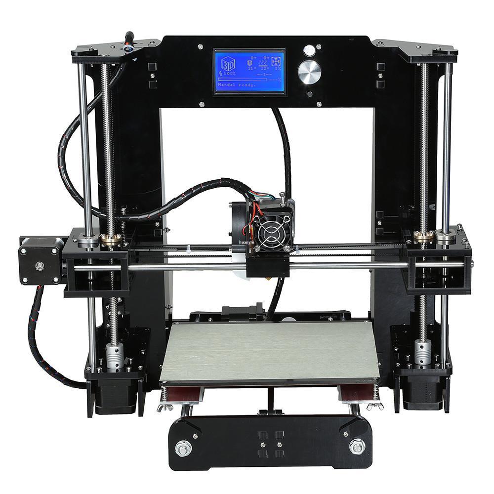 Freeshipping سهلة مجموعة anet A6A8 طابعة 3d كبيرة الحجم عالية الدقة reprap prusa i3 diy 3d آلة الطباعة + مرتع + خيوط + بطاقة sd + lcd