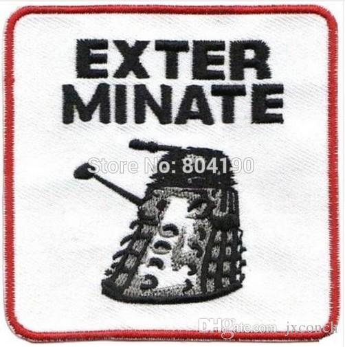 "3"" Unit Logo Doctor Who DR WHO EXTERMINATE TV Series punk rockabilly applique sew on/ iron on patch Free Shipping"