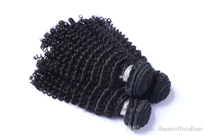 Brazilian Human Hair Weaves Bundles Unprocessed Brazillian Peruvian Indian Malaysian Cambodian Deep Curly Hair Extensions Natural Black