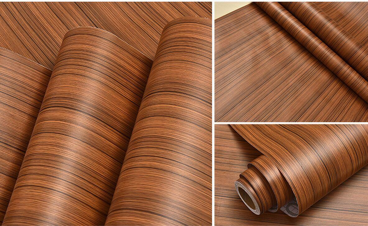 Diy Back Glue Pvc Wood Grain Wall Sticker Waterproof Wallpaper Furniture Cabinets Refurbished Stickers Dormitory Hi Def Wallpaper Free Hi Def