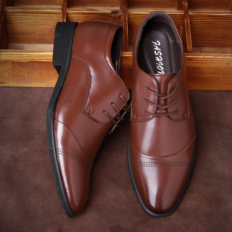 Große Größe Italienische Marke Designer Schuhe Männer Leder Business Freizeitschuhe Spitz Toe Lace-up Oxfords Schwarz Braun Mokassins 8