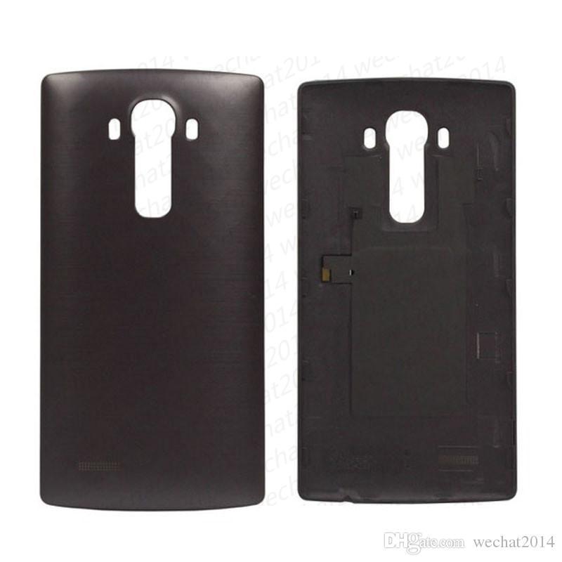 100% nuovo indietro porta batteria coperchio posteriore alloggiamento in vetro di ricambio per LG G4 F500 H815 H810 H811 VS999 LS991 VS986 DHL libero