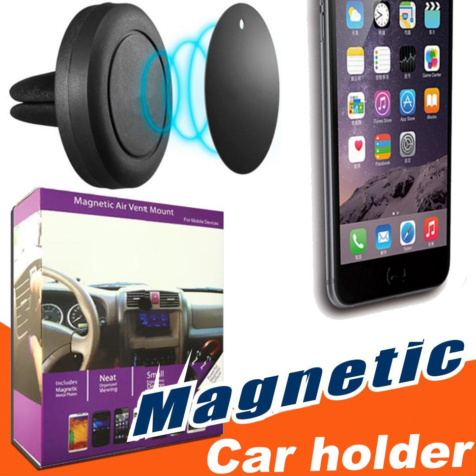 Universal Magnets Bracket Magnetic Car Air Vent Holder Outlet Mount For iPhone Samsung Cell Phone Mounts Holders
