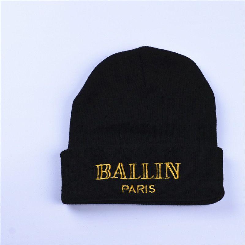 8d30cd4a40b ... Women S Winter Hat Ballin Paris Embroidery Knitted Beanies Hats Hip Hop  Ski Cap Warm White Black ...