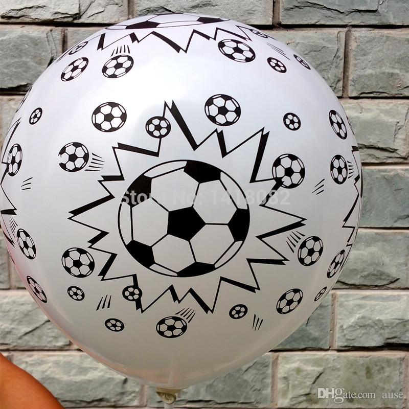 Новый стиль 50 шт. /лот футбол печати воздушный шар, высокое качество круглый шар белый цвет воздушный шар украшения партии