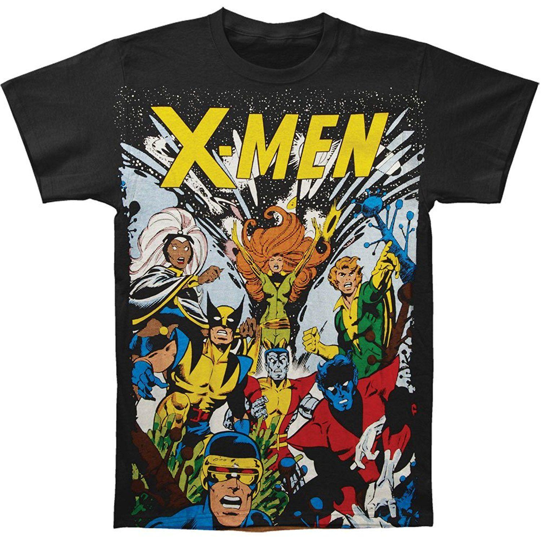 Best quality black t shirt - Marvel Mens X Men Comic Diy Custom T Shirt Black 100 Cotton Shirts