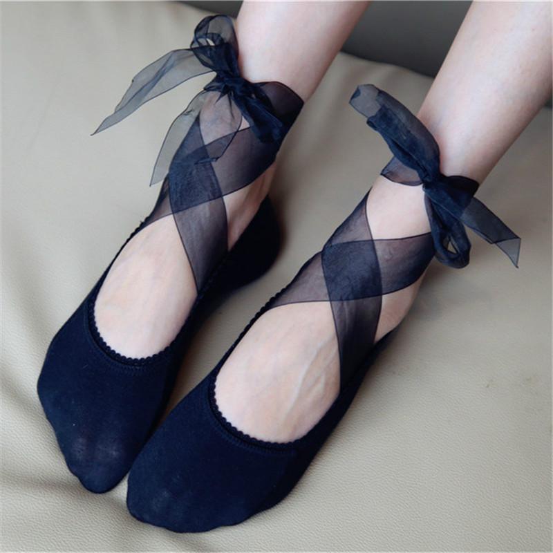 Frauen Socken Hausschuhe Mode Frühling Herbst Sommer Knöchel Ultradünne Elastische Kurze Socken Frauen meias Weibliche Baumwolle Spitze Antiskid Unsichtbare DW06