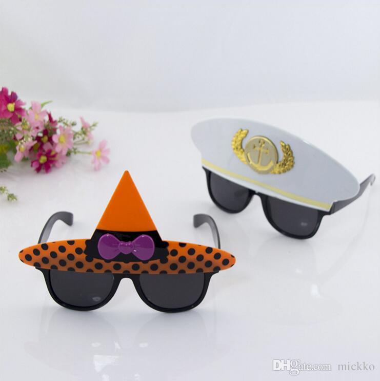Masquerade Party Captain Wizard Cap Glasses Children Birthday Graduation Glasses Decoration 2 Design Funny Party Glasses Toy
