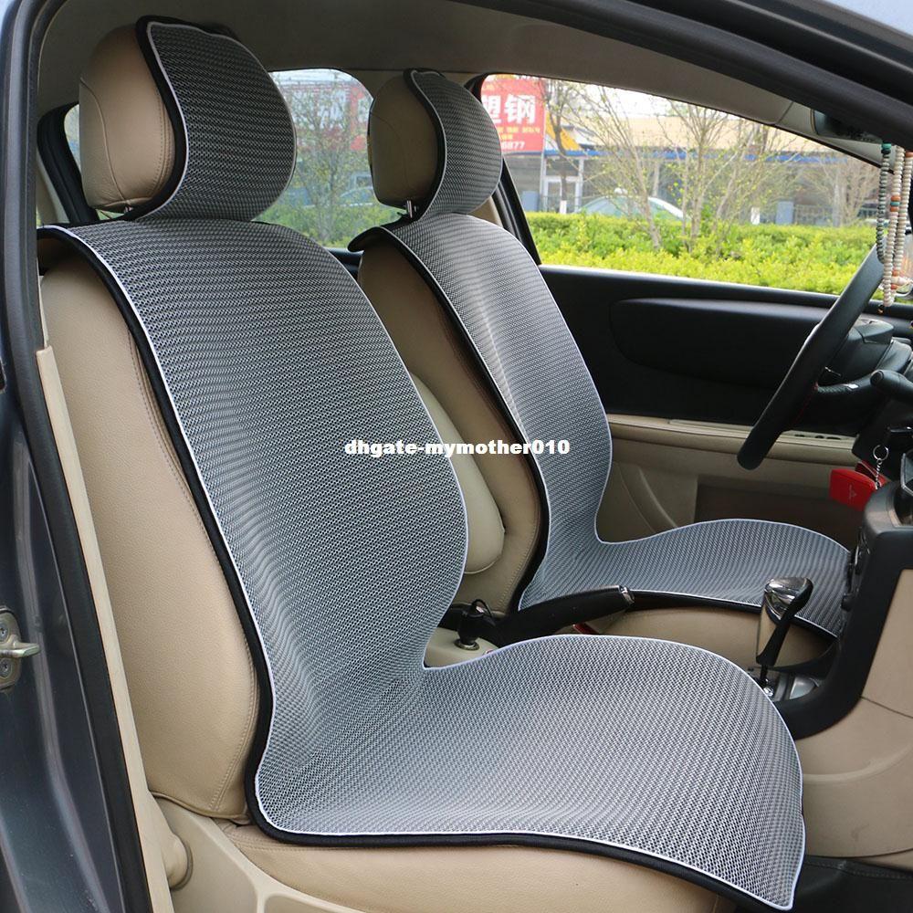 1 шт дышащая сетка автокресло охватывает площадку, пригодную для большинства автомобилей / летние прохладные сиденья подушки роскошный Универсальный размер автомобиля подушки