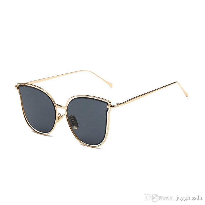 Новая мода Cat Party Sun Солнцезащитные очки Бренд дизайнерские очки Женщины Винтаж Показать очки металлические HD Женщины Женщины глазные Солнцезащитные очки для зеркала L VMRG