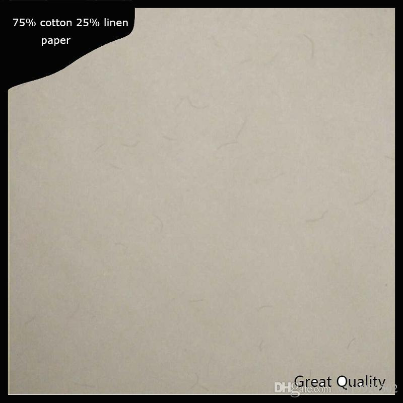 (JQ1720040604)200 sheets Contract printinng paper 75% cotton 25% linen pass pen test paper high quality with colored fiber A4 size
