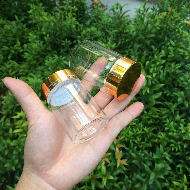 80ml Glass Bottles Glod Screw Cap Empty Jars Glass Bottles For Food Spice Liquid Candy Jars 2
