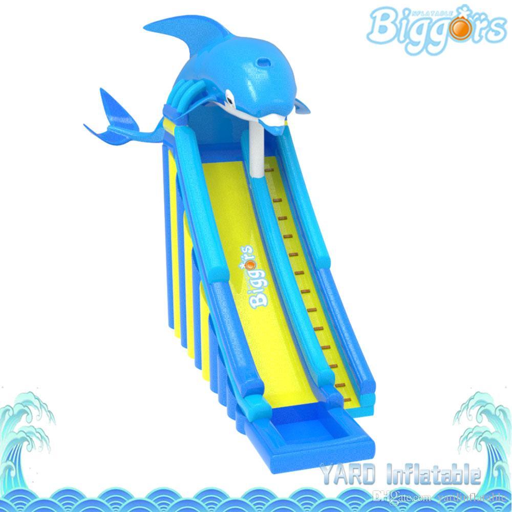 Jardim Comercial Uso Novo Azul Dolphin Forma À Prova D 'Água Puncture-Proof Slide Inflável Salto Castelo Corrediça Longa Slide