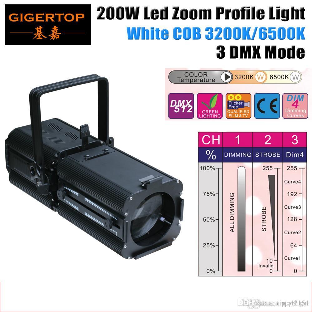 Ermäßigte Preise Hochzeit Mond Muster 200W warme weiße Farbe LED-Profil Licht DMX 512 Control 3 Kanäle Led Par Cans TP-004