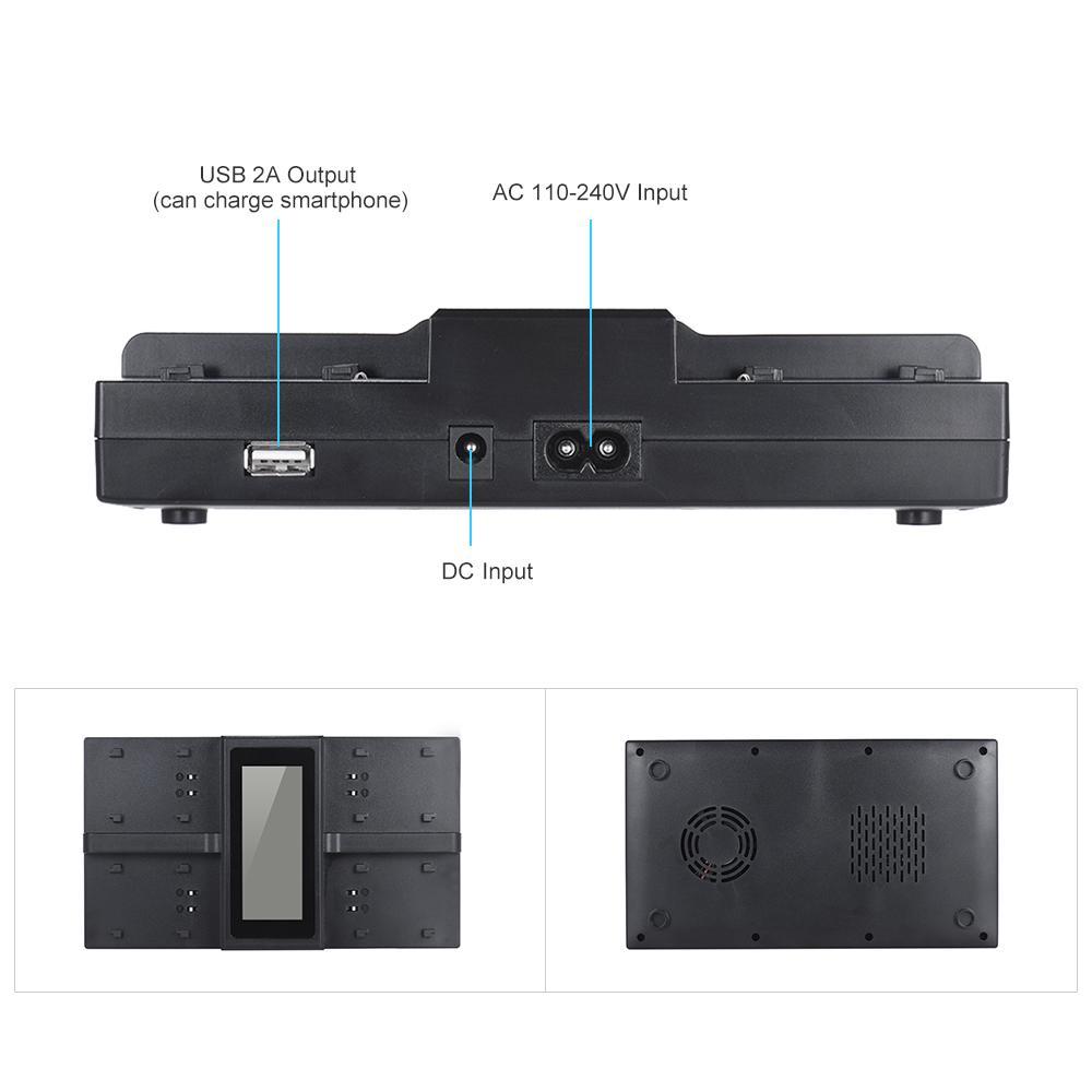 Freeshipping Andoer NP-FW50 NPFW50 4-Kanal-Digitalkamera-Batterieladegerät für Sony A7 A7R A7SII A7II A6500 A6300 A7RII NEX-Serie