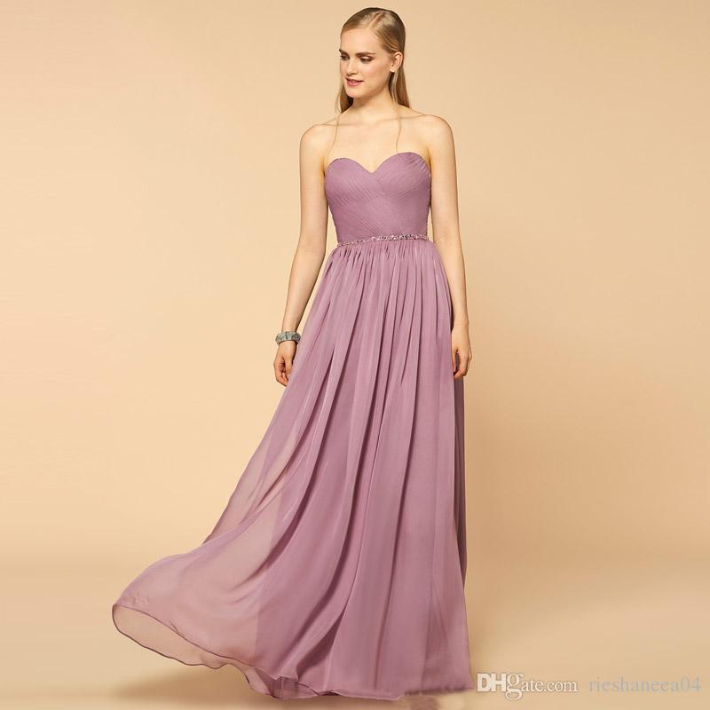 2017 Two Piece Bridesmaid Dresses Sweetheart Sleeveless A Line Pleat ...
