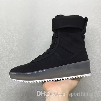 promo code 24849 d92d1 Fear Of God Military Sneaker Without Box 2016 Black Gum Numbuck Fog Made In  Italy Military Boots High Street Boots Winter Boots Size 39 45 Latest Shoes  Top ...
