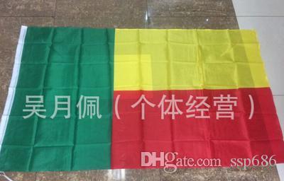 Bandera de Benin Nación 3 pies x 5 pies Poliéster Banner Flying150 * 90cm bandera personalizada Todo el mundo exterior todo el mundo