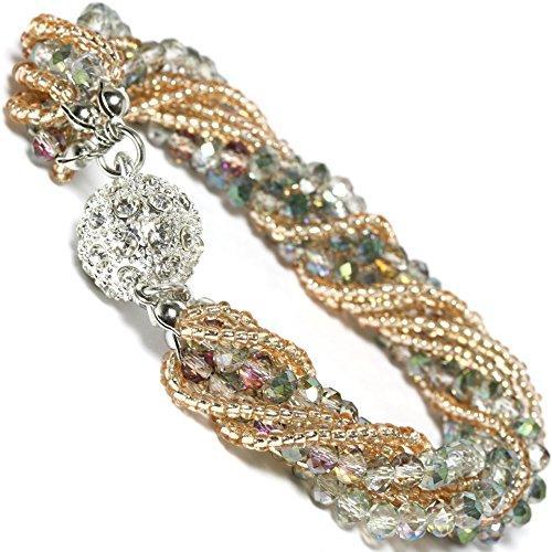 CBR15001 أعلى جودة 17 ألوان أزياء المرأة الخرز سوار مجوهرات diy سحر كريستال فريد تصميم سوار مجوهرات حزب هدية