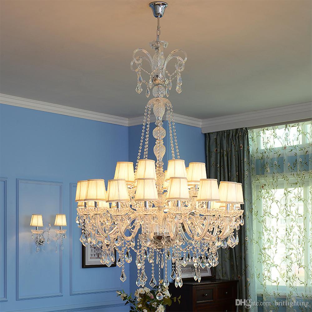Европейская роскошная инженерная хрустальная лампа двойная лестница люстра большая вилла отдел продаж отеля хрустальная лампа гостиная свеча